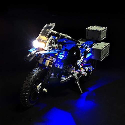 Nlne Kit De Iluminación Led para Lego BMW R 1200 GS Adventure, Compatible con Ladrillos De Construcción Lego Modelo 42063 (NO Incluido En El Modelo)