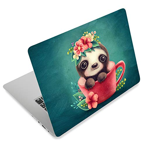 Cute Teacup Bear 12.1 13 13.3 14 15 15.4 15.6 Inches Personalized Laptop Skin Sticker Decal Universal Netbook Skin Sticker Reusable Notebook PC Art Decal Protector Cover Case by AORTDES