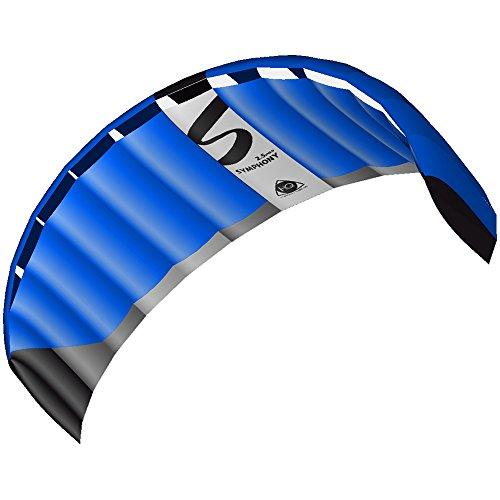 HQ 11770560 - Symphony Pro 2.5 Neon Blue Zweileiner Lenkmatten, ab 14 Jahren, 73x220cm, inkl. 140 kp Dyneemaschnüre 2x25m auf Winder mit Schlaufen, 2-6 Beaufort