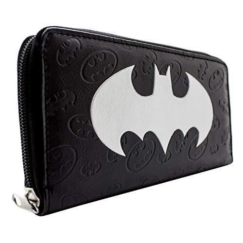 DC Batman gaufré Bat Impression Noir Portefeuille