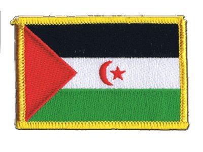 Flaggenfritze Flaggen Aufnäher Westsahara Fahne Patch + gratis Aufkleber
