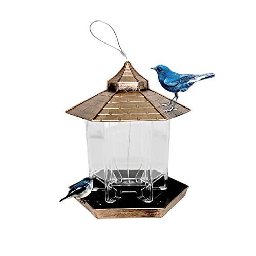 Ram® Vogelfutterstation zum Aufhängen, Bronze, sechseckig, Hütte