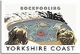 JRLDMD Cuadros Decoracion Póster de Viaje de Inglaterra Decoracion de la Costa de Yorkshire póster de Pintura Lienzo Moderno para Oficina póster artístico decorativo60x90cm x1 Sin Marco