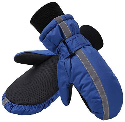 SimpliKids Kids Gloves Winter Mittens Insulation Waterproof Boys Snowboard Mittens,S,Navy