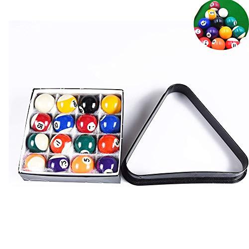 Juego de mini bolas de billar, bolas de billar en miniatura de 1.5 pulgadas, 16 bolas completas para mesas de billar, con estante triangular, para mesa de billar en el hogar, centro comunitario