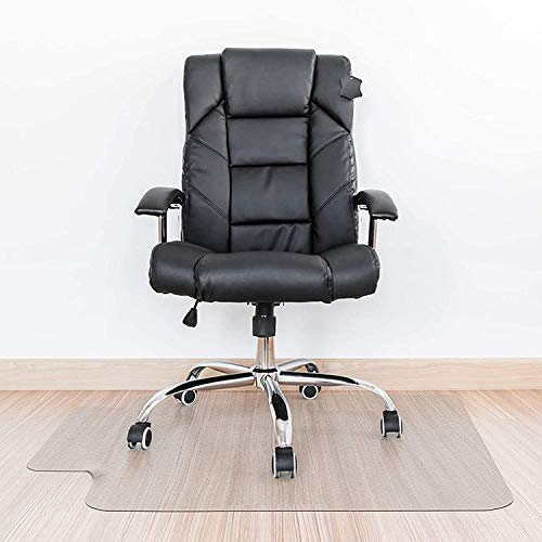 """Kuyal Clear Stuhlmatte, Hartbodengebrauch, 76 x 120 cm transparente Office Home Bodenschutzmatte Stuhlmatten (30\""""x 48\"""" mit Lippe)"""