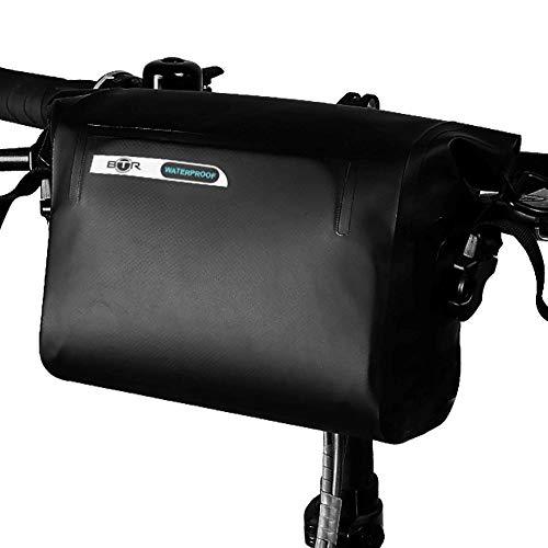 BTR Borsa Stay Dry Manubrio – La Sacca Bici Impermeabile Universale per Tutte Le Condizioni Meteo, con Cinghia Removibile