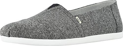 TOMS Classic Black Repreve Recycled Mens Espadrilles Shoes Slipons