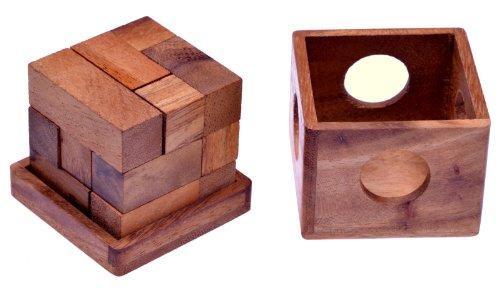 Soma Würfel Gr. L - 3D Puzzle - Lernspiel - Denkspiel - Knobelspiel - Geduldspiel - Logikspiel im Holzkasten