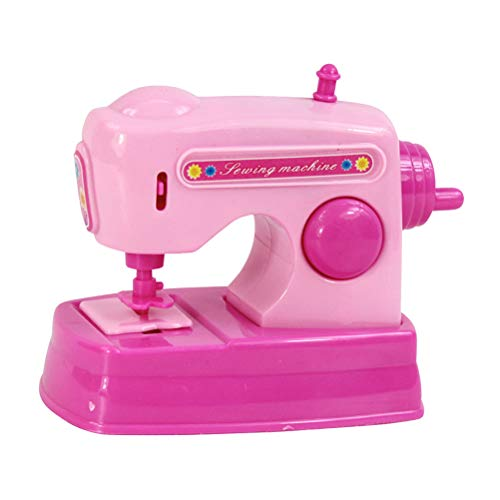 NUOBESTY Electric Sewing Machine Happy Family Pretend Play with Sound Toys for Kids(Without Battery)