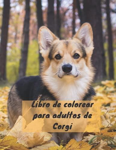 Libro de colorear para adultos de Corgi