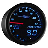 MaxTow Double Vision 2200 F Pyrometer Exhaust Gas Temperature EGT Gauge Kit - Includes Typ...