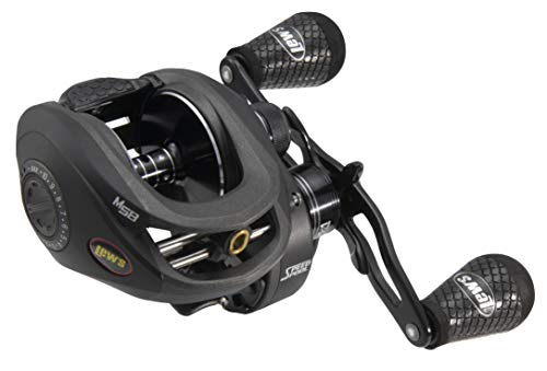 Lews Fishing, Super Duty 300 Baitcasting Reel, 6.5:1 Gear Ratio, 7 Bearings, 24 lbMax Drag, Left Hand
