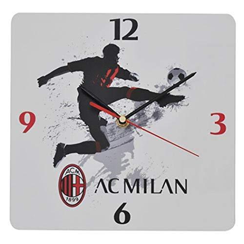 Giemme articoli promozionali - Orologio Parete Rossoneri Milan Prodotto Ufficiale Idea Regalo Calcio Rossoneri