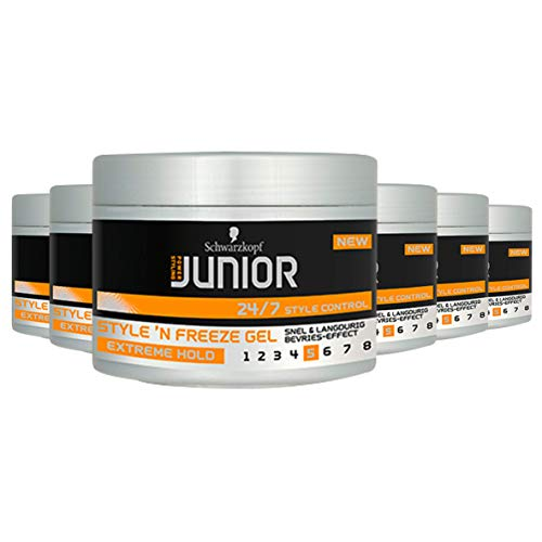 Schwarzkopf Junior Power Styling Style 'N Freeze Gel 200ml, 6 stuks
