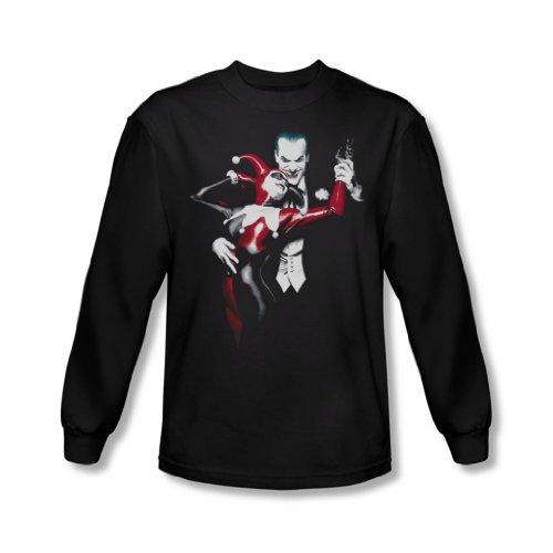 Batman - Joker shirt à manches longues Harley hommes et en noir, Small, Black