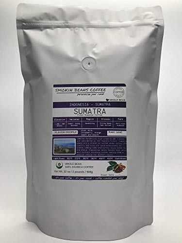 Asia/Indonesia, Sumatra (2-Pound Bag) Premium Arabica Coffee Freshly Custom Roasted Today (Italian Roast/Whole Bean) Customized Roast Or Grind Is Available By Messaging Us At Time Checkout
