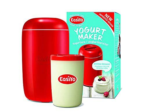 Public Media EasiYo Joghurtbereiter (Rot) für 1Kg Joghurt Starterset