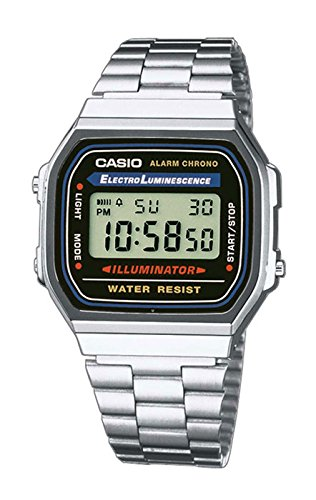 Casio Collection Retro Armbanduhr digital Quarzwerk Metall A168WA-1YES