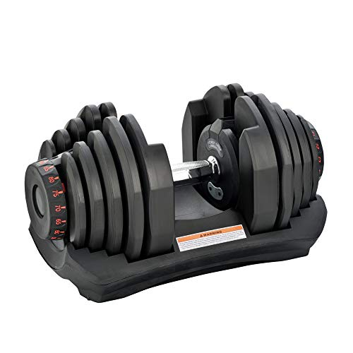AlwaysClean Dumbbell Adjustable Dumbbell Single 88 lb with Weight Plate for Home Body Workout Single(88 lb)…