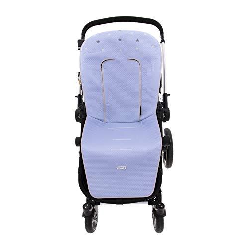 Colchoneta o funda de Paseo para silla Universal Rosy Fuentes en color azul empolvado