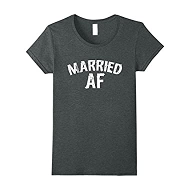 Womens Married AF t-shirt Matching pair for men and women Medium Dark Heather