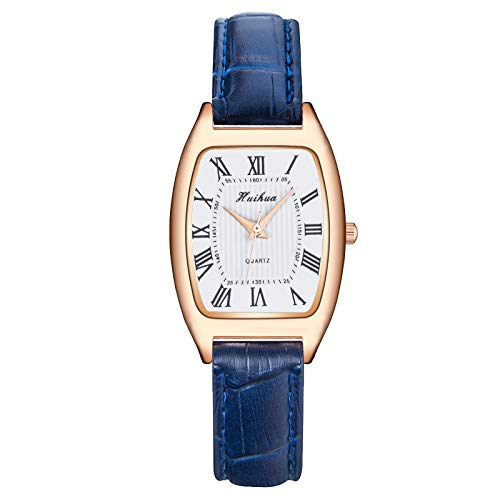 Relojes Para Mujer Banda de cuero casual de cuarzo para mujer NewV Strap Watch Reloj de pulsera analógica Rhinestone Watch Ladies Reloj de pulsera de cuarzo Bracel Relojes Decorativos Casuales Para Ni
