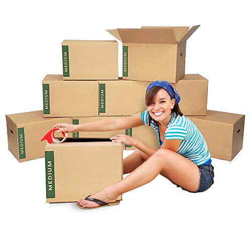 Medium Moving Boxes with Handles Pack of 10 – 18'x14'x12' – Cheap Cheap Moving Boxes