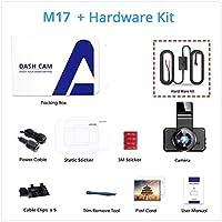 ダッシュカムデュアルレンズナイトビジョンカーカメラ1080PカーカメラレコーダーパーキングモニターWiFi高画質 (Size:Medium; Color:M17 WHK)