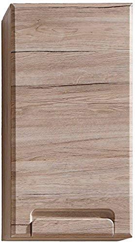 trendteam smart living Armario de baño suspendido Armario para colgar Malea, 37 x 70 x 20 cm en acabado roble claro San Remo con mucho espacio