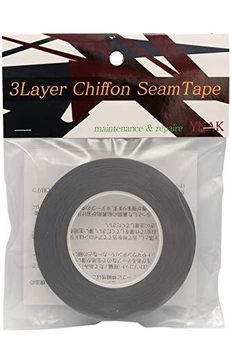 YNAK シームテープ レインウェア 補修 3レイヤー適合 テント不適正 シフォンタイプ 表面柔軟布 縫い目 リペア シームレス 防水 対策 メンテナンス 用 アイロン式 (幅15mm×17m Deepgray)