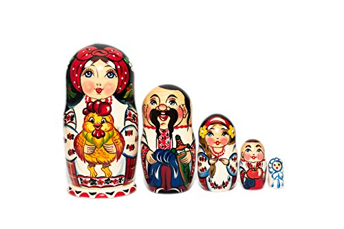 Nesting dolls for kids, Handmade, Hand painted wooden nesting dolls, Toy for boys girls, Russian nesting dolls for kids, Christmas gifts, Developing skills toy, Montessori Waldorf, Traditional family