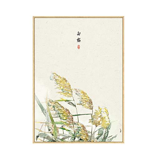 YAZHIQT Canvas Picture Print.Vintage Chinese Stijl Plant Katjes Natuurlijke Landschap Canvas Schilderen Kunstfoto's Voor Woonkamer Studie Aisle Hd Posters Huisdecoratie Geen Frame 70x100cm No frame