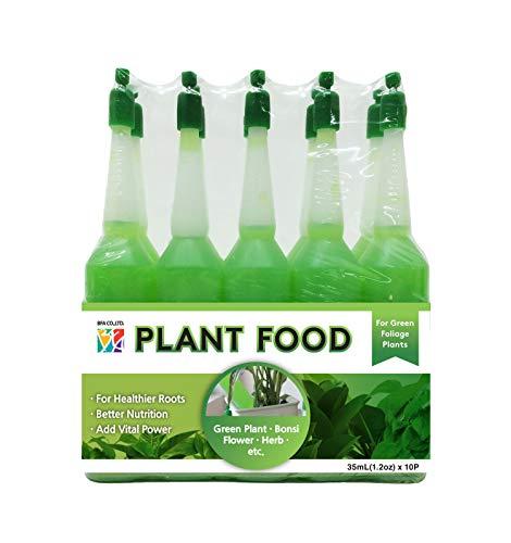 BFA Garden Fertilizer - 10 Bottles of Flower Plants Lucky Bamboo Food Liquid-Type for Green Foliage Plants (35ml - 10 ampoules)