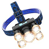 Headlamp, Rechargeable Headlamp for Adults, Waterproof Headlamps Flashlight, Lightweight Led Work Light for Camping, Hiking, Working, Battery Included