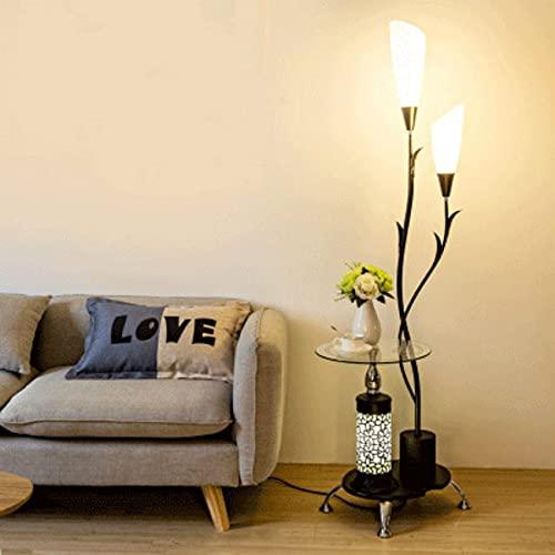 YASEking Lámpara de pie de mesa de centro nórdico sala de estar dormitorio sofá luz simple creativo control remoto luz vertical WF5151140 (pantalla de color de la lámpara: un negro)