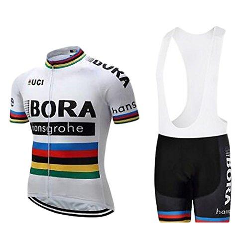 ZCFXJiTuanYZ Abbigliamento da Ciclismo Attrezzatura da Ciclismo da Uomo per Esterno Abbigliamento Sportivo da Ciclismo Camicia a Maniche Corte + Pantaloncini