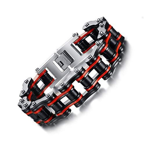 WXYBF Heren armband Heren Motor Bike Chain Armband Bangle RVS Sieraden