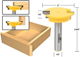 Yonico 15133 Reversible Drawer Front Joint Router Bit 1/2-Inch Shank