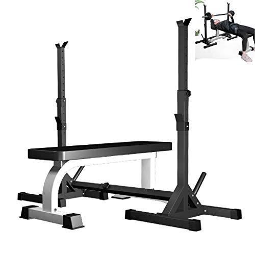 HAOYF Squat Rack Verstellbare Langhantelablage Hantelbank Bankdrücken Fitnessgerät Gewichtstraining Ausrüstung Stahlrohr Material