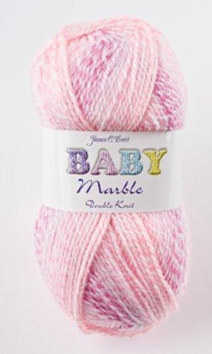 James C Brett Baby Marble DK - Ovillo de lana para bebé BM1