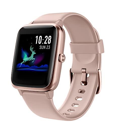 Arbily Orologio Fitness Smartwatch Uomo Donna, Fitness Tracker Orologio Cardiofrequenzimetro e Contapassi e Calorie da Polso, Orologio Sportivo Activity Tracker Impermeabile IP68 (Rosa)