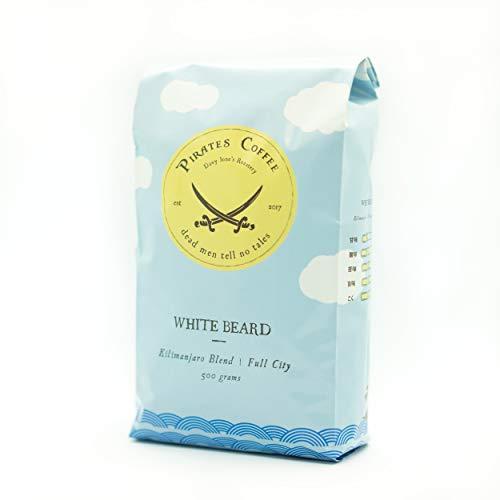 パイレーツコーヒー キリマンジャロ ブレンド 自家焙煎 コーヒー豆 白ひげブレンド PIRATES COFFEE WHITE BEARD BLEND (500g 豆のまま)