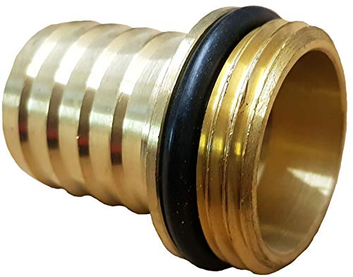 """Schlauchtülle 1 1/4""""mit 1 1/4"""" Außengewinde + O-Ring_-=-_Für Saugschlauch Innendurchmesser 32mm Gartenschlauch Spiralschlauch Bewässerungsanlage Rückschlagventil Wasserleitung und auf Geka-Verbinder"""