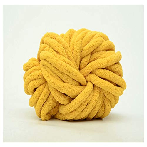 QXYOGO Chunky Yarn Wool-woven blanket stencil hair wire manual DIY hat scarf thick line group 1 (Color : 15 turmeric)