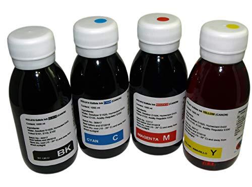 Tinta Comestible Compatible con impresoras Canon 4 x 100ML
