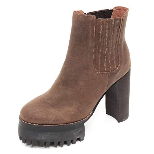 Jeffrey Campbell D2246 Tronchetto Donna Scarpe Marrone Vintage Boot Shoe Woman [38]