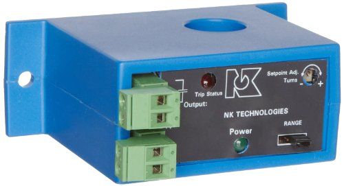 NK Technologies DS3-SDT-24U DC Current Switch, Form C, Solid-core, 4-20, 10-50, & 20-100A Input Range, Relay Output