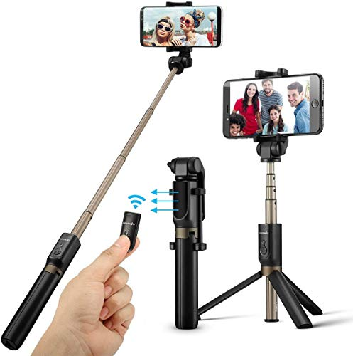 BREEZEE MARKET Selfie Stick Trípode Extensible 3 en 1 con Disparador Bluetooth para Celulares, Compatible iOS y Android, Gadget para Celular, Baston Tripie Inalambrico Portatil Plegable Rotación 360°