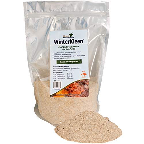 WinterKleen Winter Bacteria for Ponds   Koi Pond Winterizer, Leaf Digester, Natural Cleaner